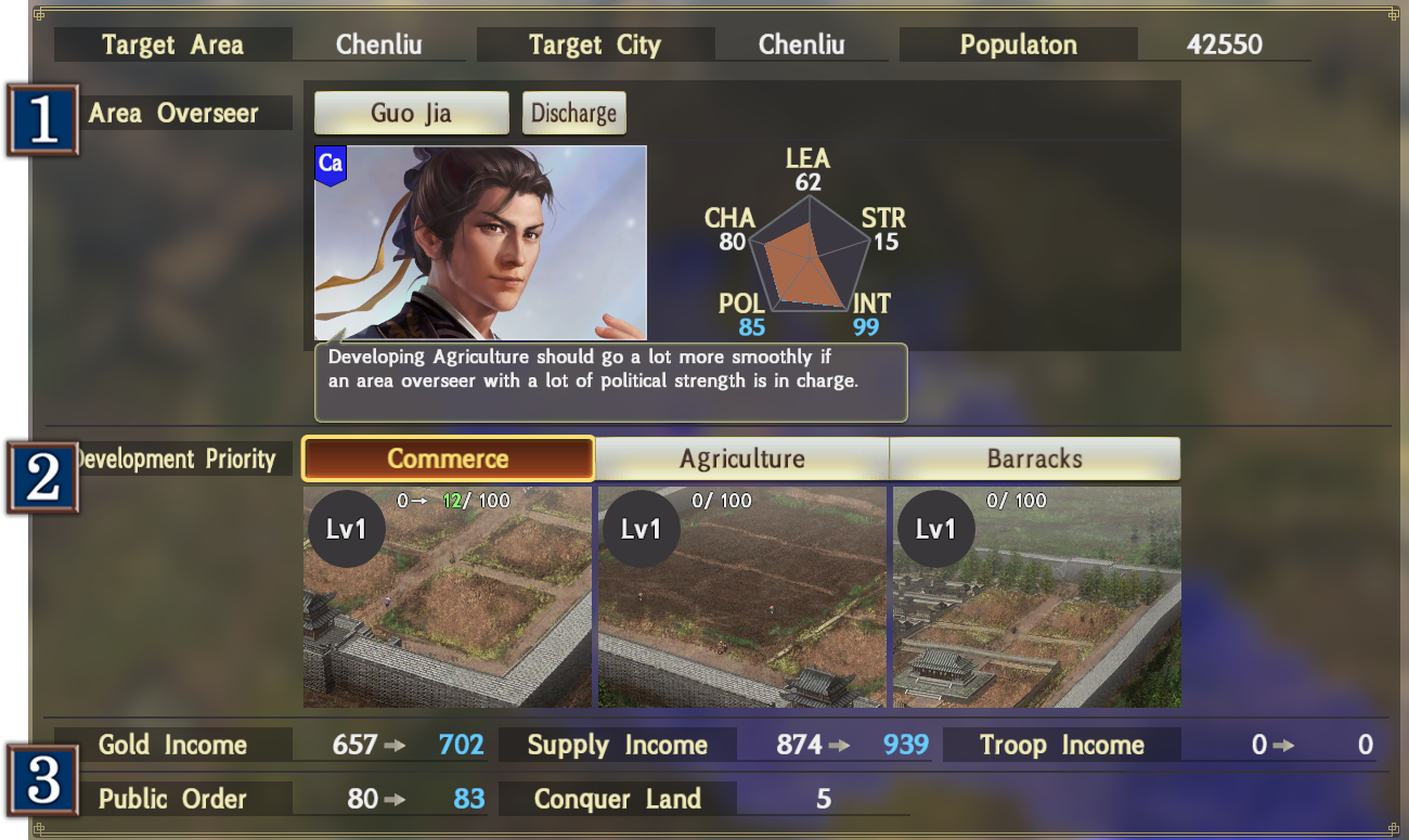 Base Government | ROMANCE OF THE THREE KINGDOMS XIV Official Web Manual